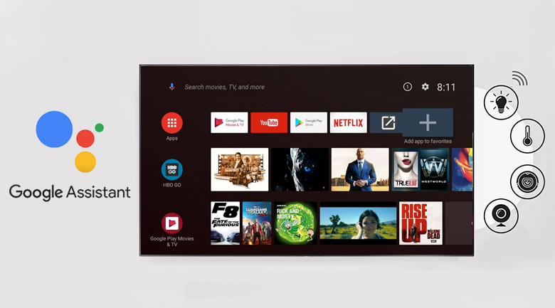 Android Tivi TCL 4K 55 inch L55A8