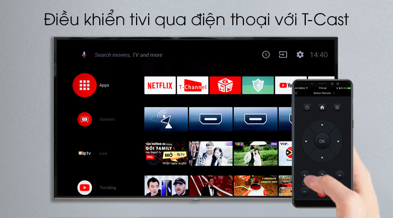 Android Tivi TCL 4K 65 inch L65P8